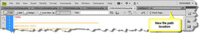 File path cut off in Dreamweaver